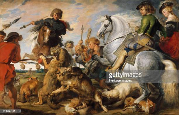 Wolf and Fox Hunt circa 1616 Artist Peter Paul Rubens