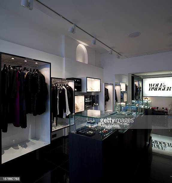 Wolf Badger Fashion Boutique 46 Ledbury Road Notting Hill London W11 2Ab Interior Shot Looking Doen The Shop To The Branded Logo Unknown United...