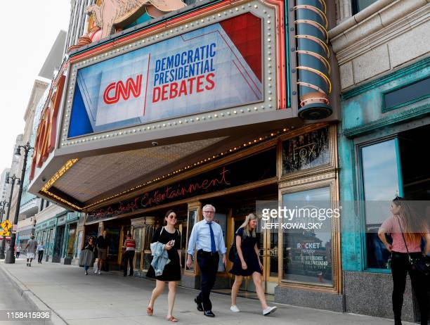 Wolf Blitzer, a CNN political anchor, walks past the Fox Theatre ahead of the democratic debates in Detroit, Michigan on July 29, 2019. - Democrat...