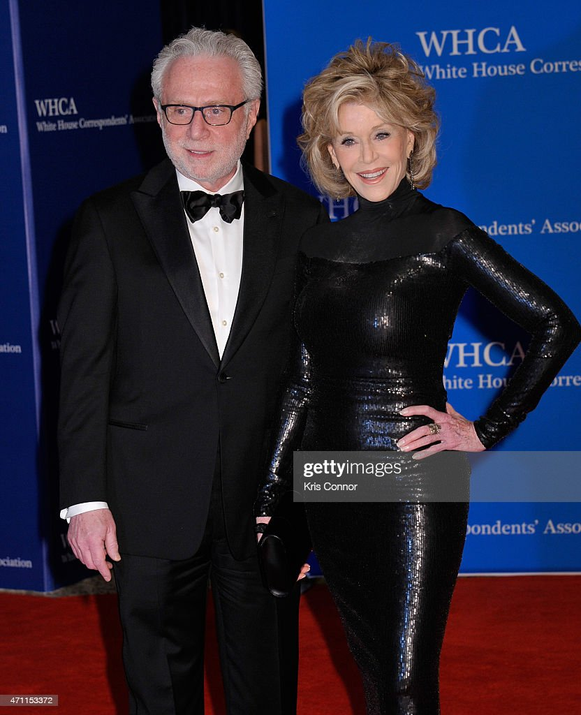 Wolf Blitzer and Jane Fonda attend the 101st Annual White House Correspondents' Association Dinner at the Washington Hilton on April 25, 2015 in Washington, DC.