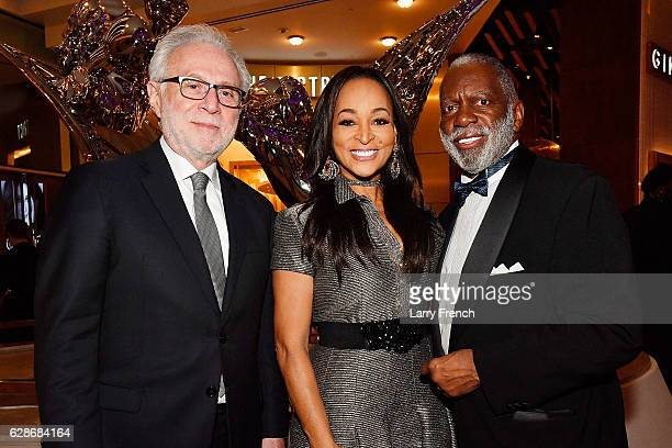 Wolf Blitzer Karen Huger and Raymond Huger attend the MGM National Harbor Grand Opening Gala on December 8 2016 in National Harbor Maryland