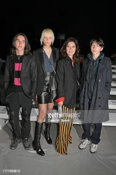 Wolf Gillespie, Marjan Jonkman, Katy England and Lux Gillespie attend the Celine Womenswear Spring/Summer 2020 show as part of Paris Fashion Week on...