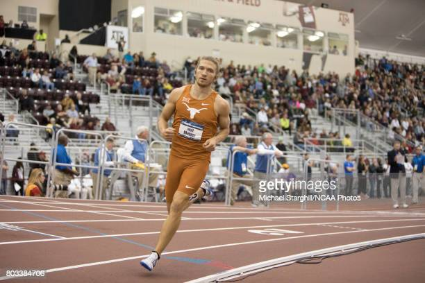Wolf Mahler of Texas competes in the 1000 meter run portion of the men's heptathlon during the Division I Men's and Women's Indoor Track Field...