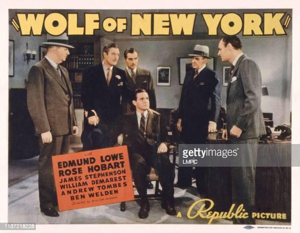 Wolf Of New York US lobbycard Edmund Lowe Maurice Murphy James Stephenson Jerome Cowan 1940