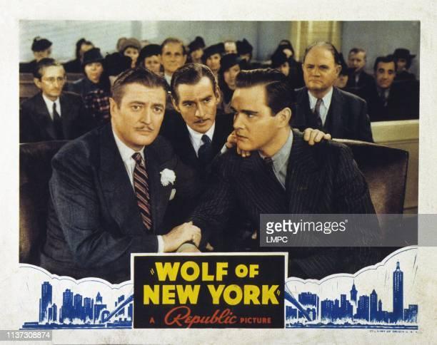 Wolf Of New York US lobbycard from left Edmund Lowe James Stephenson Maurice Murphy 1940
