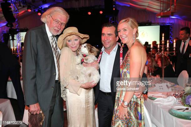 Wolf Walther Elke Sommer and dog Smiley Falk Raudies and Andrea Raudies during the Gala evening during the EAGLES Praesident Golf Cup on September 13...