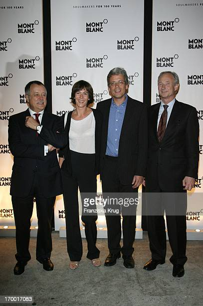 """Wolff Heinrichsdorff , Sandra Maahn With friend Christoph Goetz And Lutz Bethge 65 At The Premiere Of """"Absolute Wilson"""" And Dinner For Birthday Of..."""
