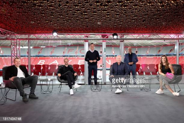 Wolff-Christoph Fuss, Fredi Bobic, Telekom Senior Vice President Global Strategic Projects and Marketing Partnerships Michael Hagspihl, Johannes B....