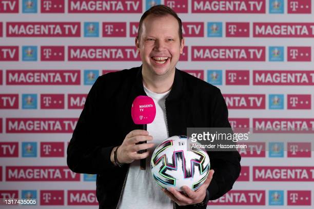 Wolff-Christoph Fuss poses during the the Magenta TV EURO 2020 Media Day at Allianz Arena on May 11, 2021 in Munich, Germany.