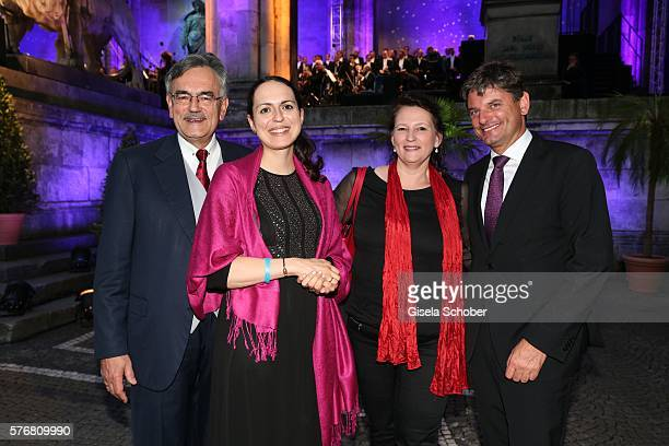 Wolfgang A. Herrmann and wife, Prof. Dr. Joachim Hornegger and his wife Belinda Hornegger during the Mercedes-Benz reception at 'Klassik am...