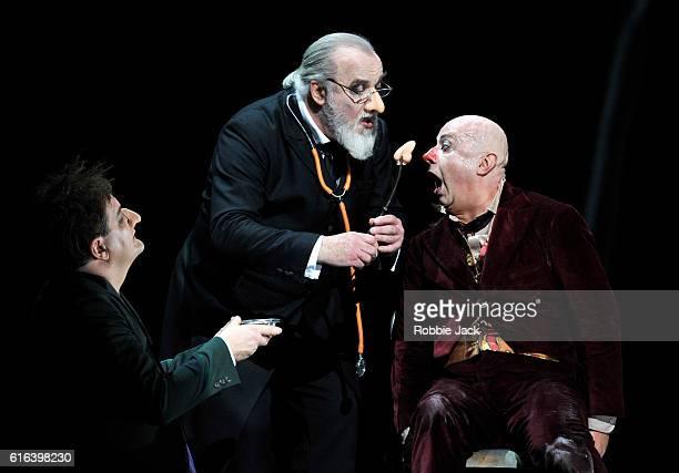 Wolfgang Ablinger-Sperrhacke as Ivan, John Tomlinson as Doctor and Martin Winkler as Platon Kuzmitch Kovalov in Dmitry Shostakovich's The Nose...