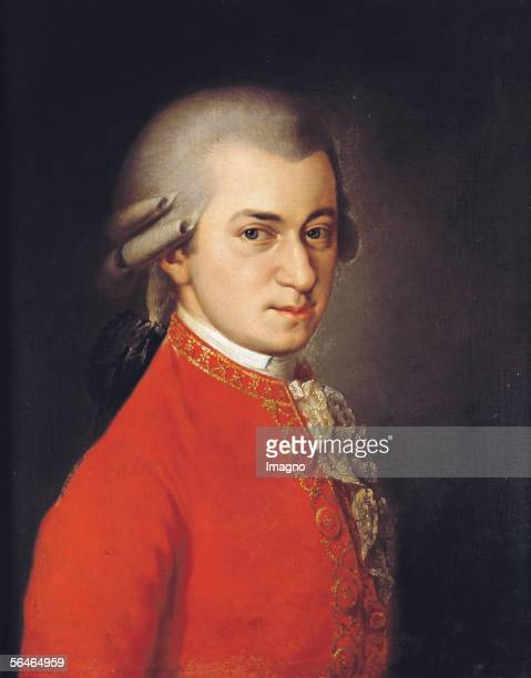 Wolfgang Amadeus Mozart 1819 Canvas by Barbara Krafft [Wolfgang Amadeus Mozart 1819 Gemaelde von Barbara Krafft ]