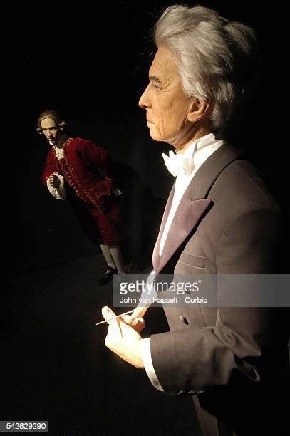 Wolfgang Amadeus Mozart and the conductor Herbert von Karayan also a native of Salzburg are immortalized at the Salzburg Wax Museum