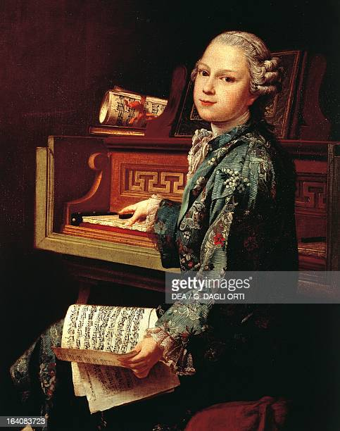 Wolfgang Amadeus Mozart as a child at the harpsichord Painting by JosephSiffred Duplessis Paris Musée Du Louvre