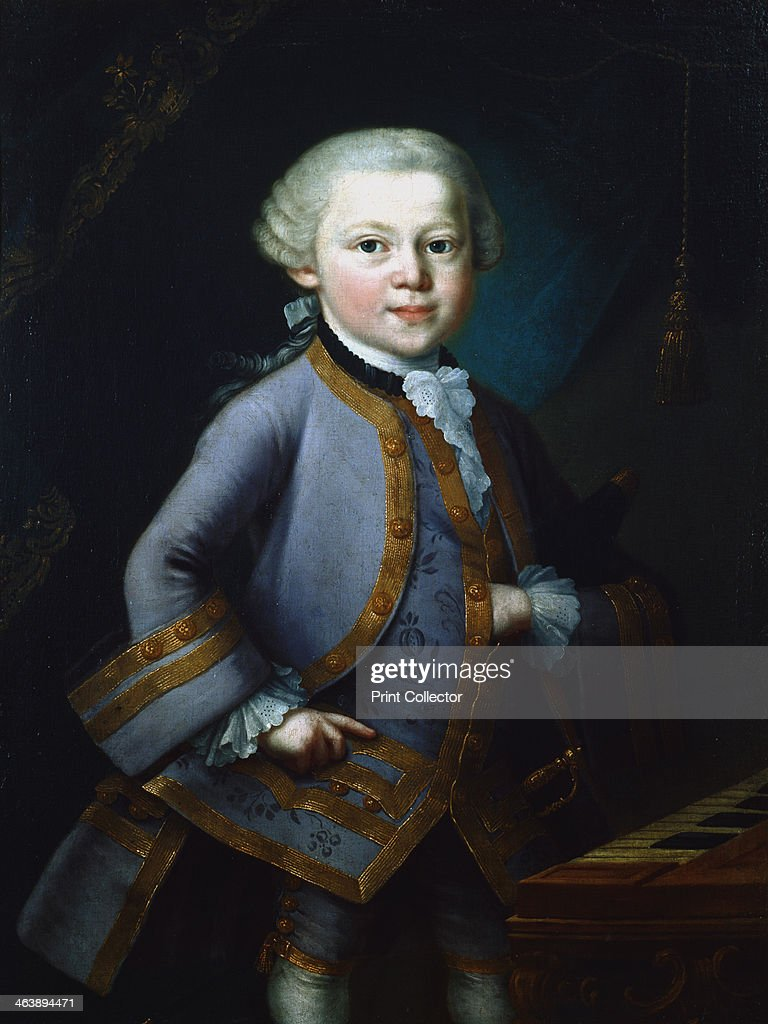 Wolfgang Amadeus Mozart, Austrian composer, 1761. Artist: Anon : News Photo