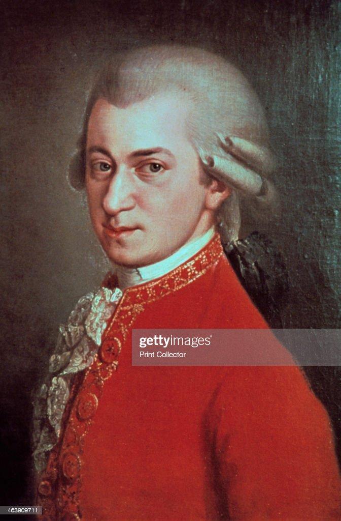 Wolfgang Amadeus Mozart, Austrian composer, c1780. Artist: Johann Nepomuk Della Croce : News Photo