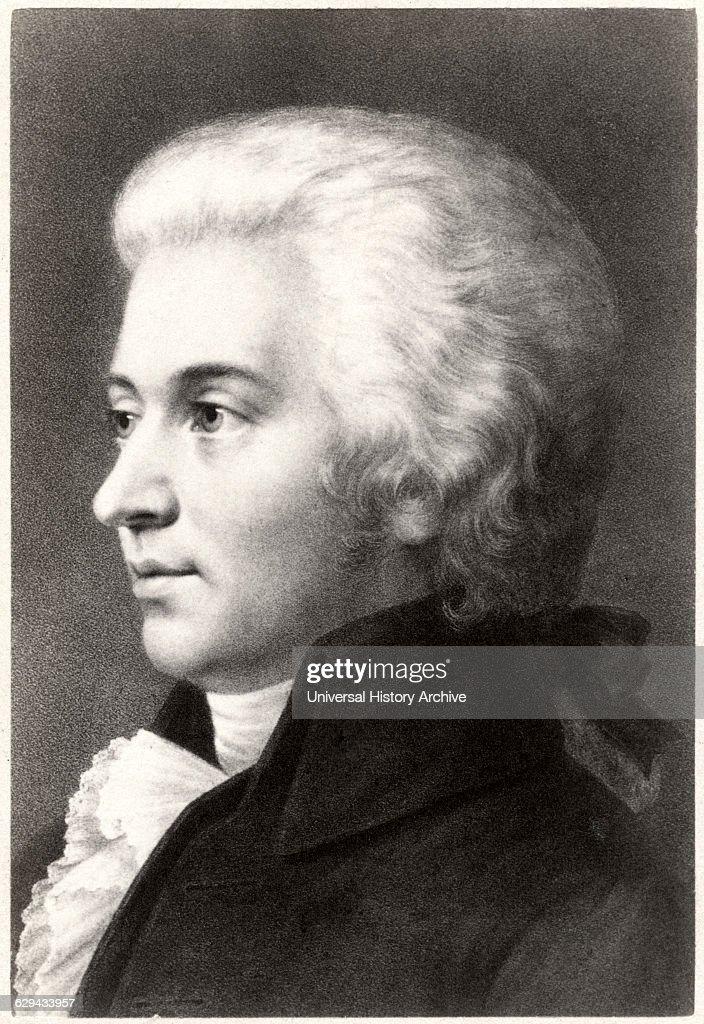 Wolfgang Amadeus Mozart Composer Famous : News Photo