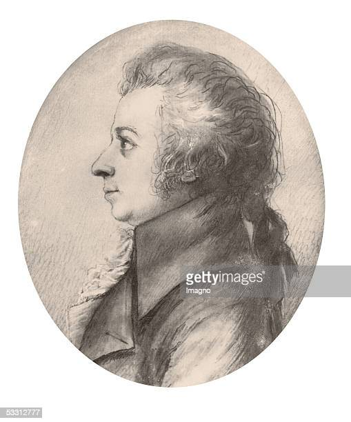 Wolfgang Amadeus Mozart Silver Point Painting by Doris Stock April 1789 [Wolfgang A Mozart SilberstiftZeichnung von Doris Stock April 1789]