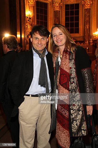Wolfgang Bahro and Barbara Bahro attend the Everyman premiere at the Dome Berlin on October 20 2011 in Berlin Germany