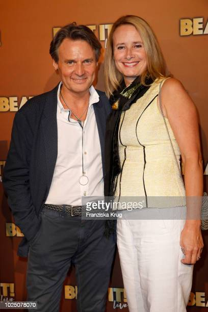 Wolfgang Bahro and his wife Barbara Bahro attend the musical premiere of 'BEAT IT Die Show ueber den King of Pop' at Stage Theater on August 29 2018...
