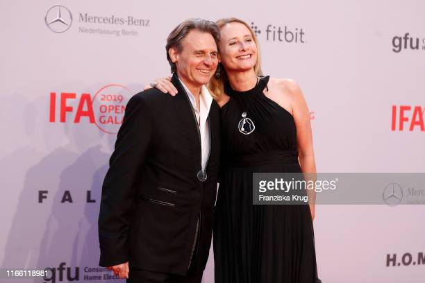 Wolfgang Bahro and his wife Barbara Bahro during the IFA 2019 opening gala at Messe Berlin on September 5 2019 in Berlin Germany