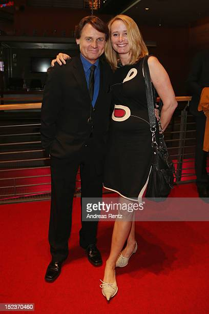 Wolfgang Bahro and partner attend the 'Goldene Henne' 2012 award after show party on September 19 2012 in Berlin Germany
