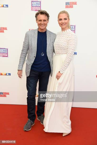 Wolfgang Bahro and Valentina Pahde attend the 25th anniversary party of the TV show 'GZSZ' on May 17, 2017 in Berlin, Germany.