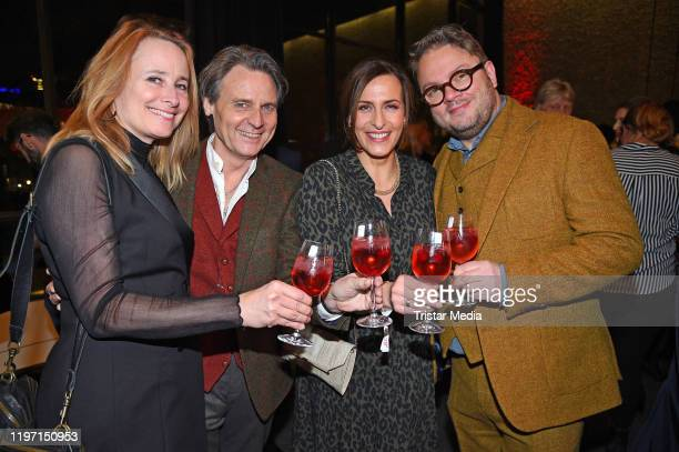 Wolfgang Bahro his wife Barbara Bahro and Ulrike Frank and her husband Marc Schubring attend the BZ Kulturpreis award on January 28 2020 in Berlin...