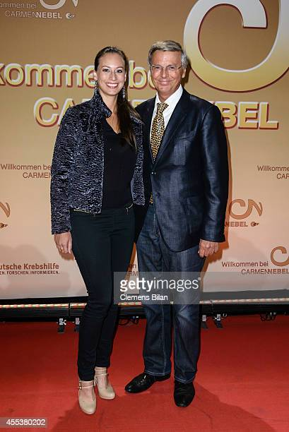 Wolfgang Bosbach and Caroline Bosbach attend the 'Willkommen bei Carmen Nebel' show at Velodrom on September 13 2014 in Berlin Germany