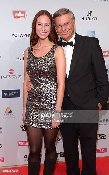 Wolfgang Bosbach and daughter Caroline attend networking event Movie meets Media at Hotel Atlantic on December 2 2013 in Hamburg Germany