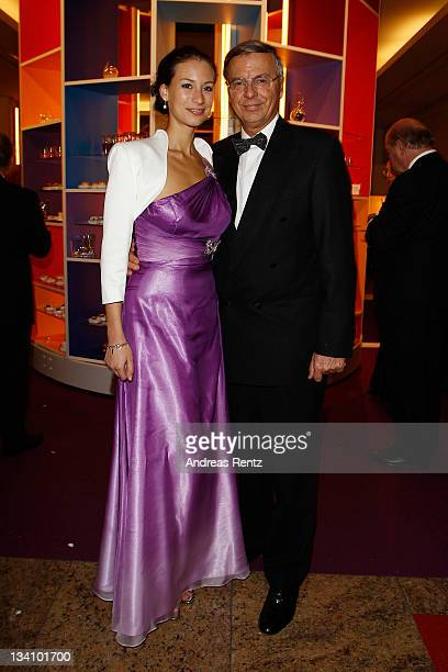 Wolfgang Bosbach and daughter Caroline Bosbach attend the Bundespresseball at Hotel Intercontinental on November 25 2011 in Berlin Germany