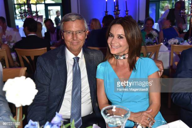 Wolfgang Bosbach and Gitta Saxx during the dinner Royal at the Gruenwalder Einkehr on July 12 2018 in Munich Germany