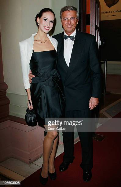 Wolfgang Bosbach and his daughter Caroline attend the Sportpresseball 2010 at the Alte Oper on November 6 2010 in Frankfurt am Main Germany