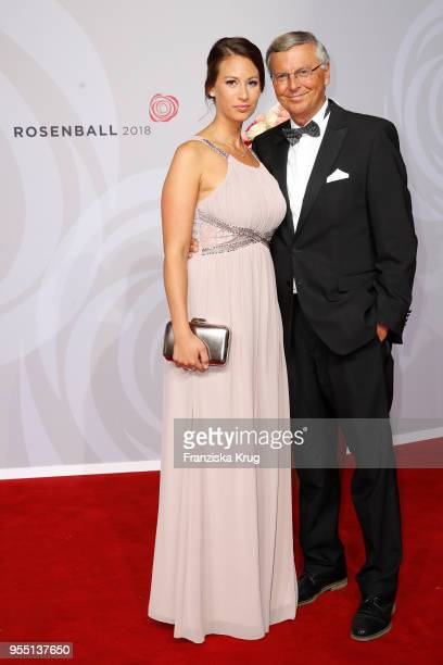 Wolfgang Bosbach and his daughter Caroline Bosbach attend the Rosenball charity event at Hotel Intercontinental on May 5 2018 in Berlin Germany