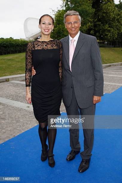 Wolfgang Bosbach and his daughter Caroline Bosbach attend the producer party 2012 of the German producers alliance on June 14 2012 in Berlin Germany