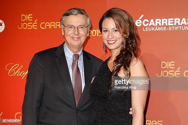 Wolfgang Bosbach and his daughter Caroline Bosbach attends the 21th Annual Jose Carreras Gala at Hotel Estrel on December 17 2015 in Berlin Germany