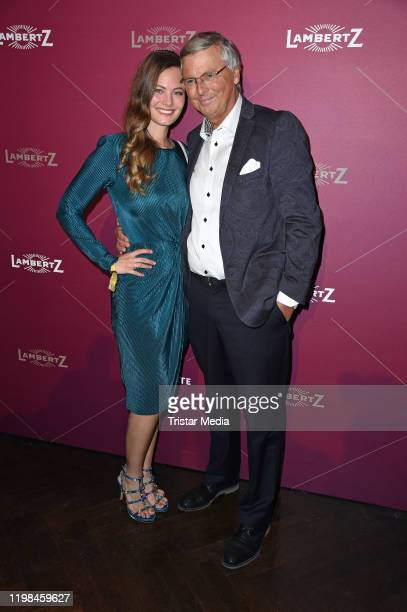 Wolfgang Bosbach and his daughter Viktoria Bosbach attend the red carpet arrival at Lambertz Monday Night Party 2020 at Alter Wartesaal on February 3...