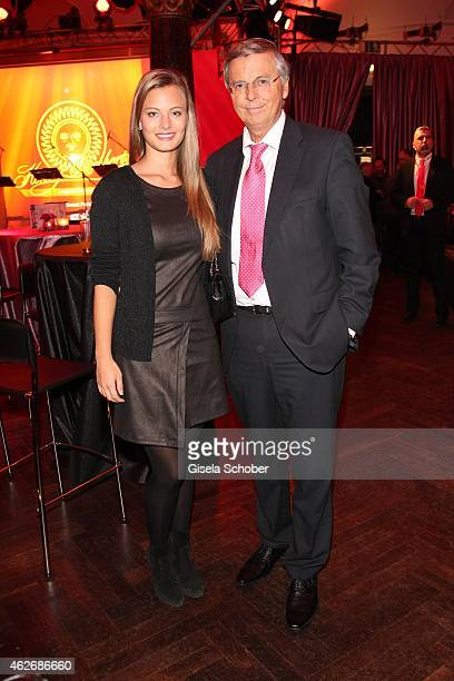 Wolfgang Bosbach and his daughter Viktoria during the Lambertz Monday Night 2015 at Alter Wartesaal on February 2 2015 in Cologne Germany