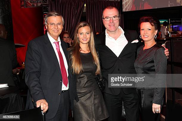 Wolfgang Bosbach and his daughter Viktoria, President of Schalke 04, Clemens Toennies and his wife Margit Toennies during the Lambertz Monday Night...