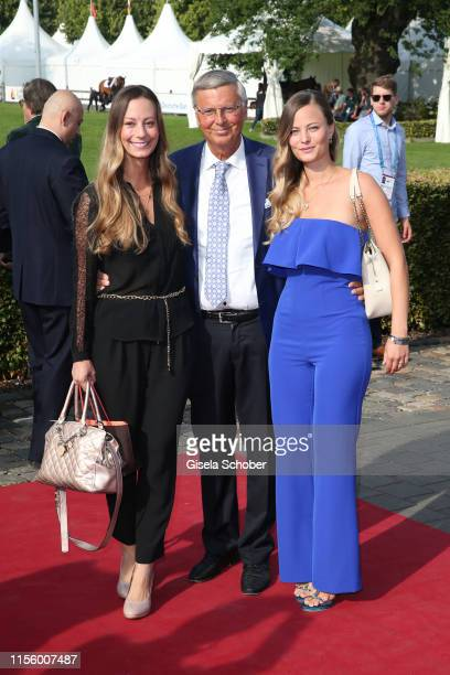 Wolfgang Bosbach and his daughters Natalie and Viktoria Bosbach during the CHIO 2019 Media Night on July 16 2019 in Aachen Germany