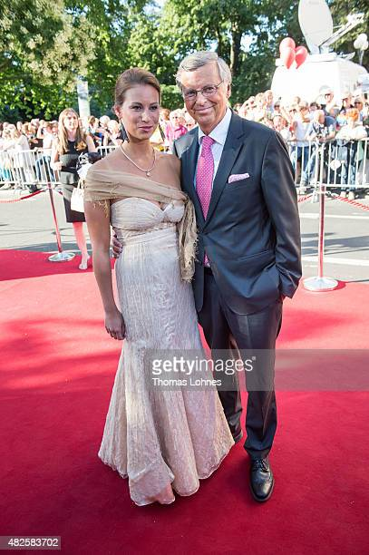 Wolfgang Bosbach and his dauther Caroline attend the opening night of the Nibelungen festival on July 31 2015 in Worms Germany
