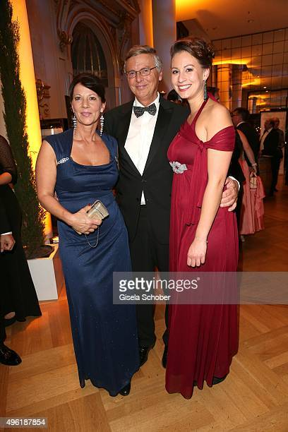 Wolfgang Bosbach and his wife Sabine Bosbach and his daughter Caroline Bosbach during the German Sports Media Ball at Alte Oper on November 7 2015 in...