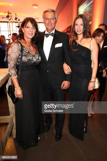 Wolfgang Bosbach and his wife Sabine Bosbach and their daughter Caroline Bosbach during the Toni Kroos charity gala benefit to the Toni Kroos...