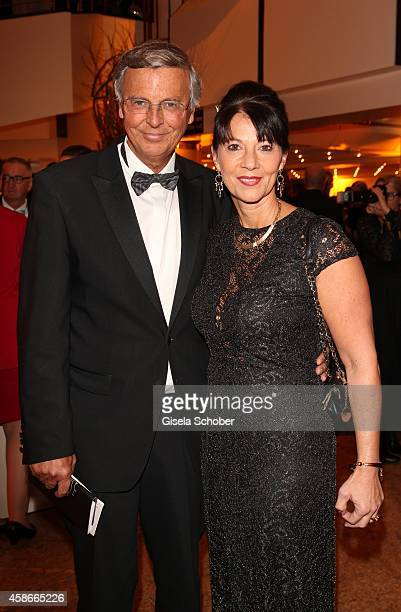 Wolfgang Bosbach and his wife Sabine during the 33 Deutscher Sportpresseball German Sports Media Ball 2014 at Alte Oper on November 08 2014 in...