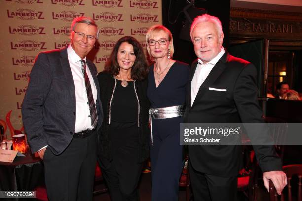 Wolfgang Bosbach and wife Sabine Wolfgang Kubicki and Annette Marberth Kubicki during the Rockin' Chocolate Lambertz Monday Night 2019 on January 28...