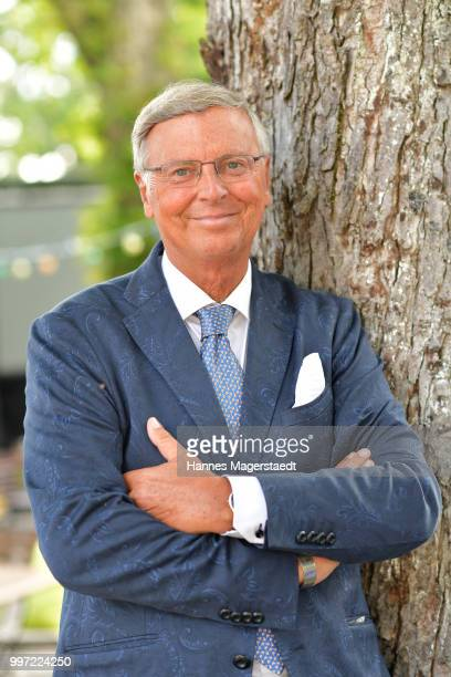Wolfgang Bosbach during the dinner Royal at the Gruenwalder Einkehr on July 12 2018 in Munich Germany