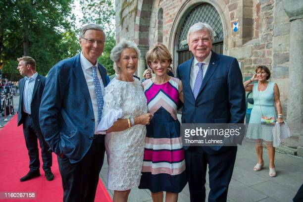 Wolfgang Bosbach Petra Roth Ursula Bouffier and the prime minister of Hesse Volker Bouffier attend the opening of the 69 Bad Hersfelder Festspiele...