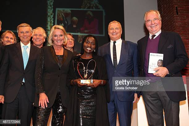 Wolfgang Bosbach Sibylle Bassler Auma Obama founder 'Sauti Kuu' Christian Courtin Clarins CEO Clarins Friedrich von Thun attend the Prix Courage...