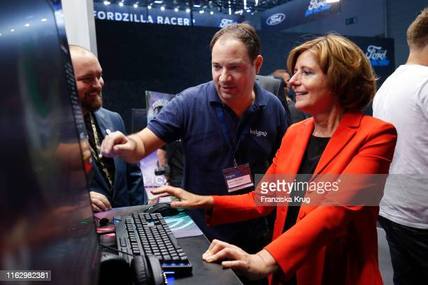 Wolfgang Duhr and Malu Dreyer during the Gamescom 2019 gaming trade fair on August 20, 2019 in Cologne, Germany. Gamescom is the world's largest...