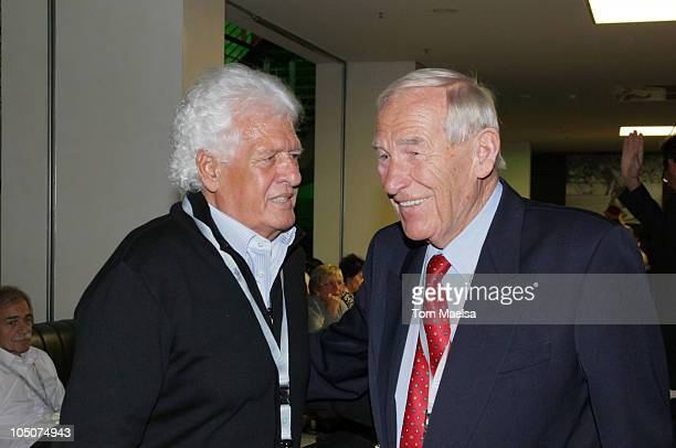 Wolfgang Fahrian and Bert Trautmann attend the Club Meeting Of Former Players Of The Germany National Team on October 8 2010 in Berlin Germany